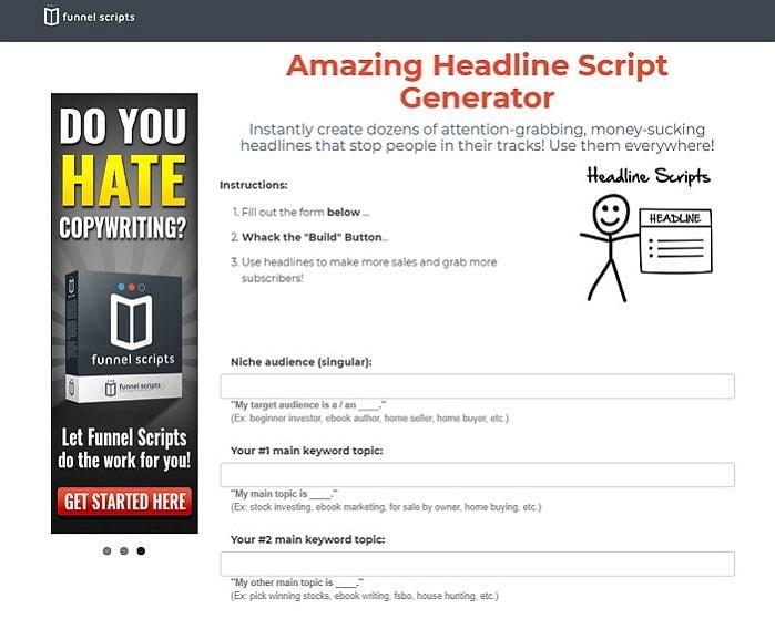 funnel scripts headline generator