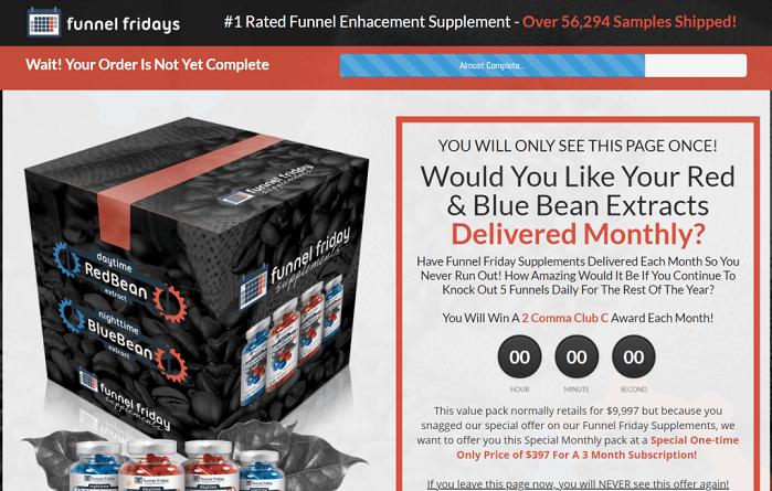 health supplement funnel