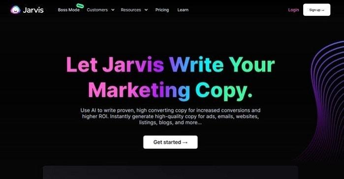 Jarvis Ai copywriting software