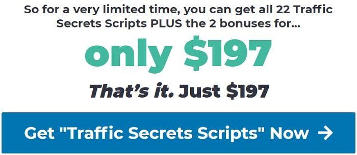 traffic secrets scripts pricing
